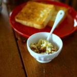 ブルーチーズとくるみのおやつとパン
