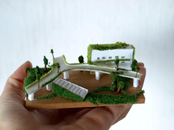 空中庭園 ペーパークラフト