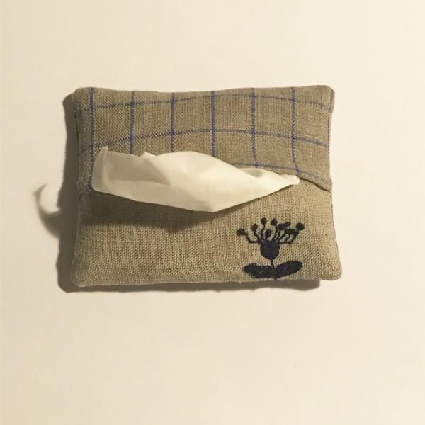 ポケットティッシュケース 手縫い 刺繍