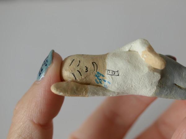 紙粘土作品 おやじ