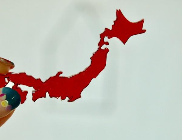 プラ板 日本地図