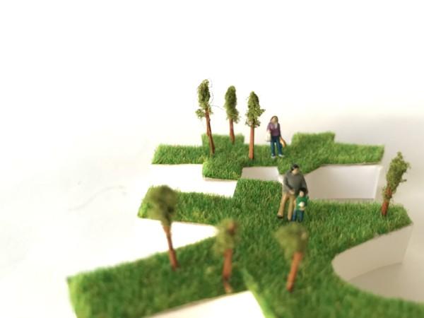 芝生シート 作品 フォント