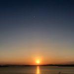 夕陽 福岡市