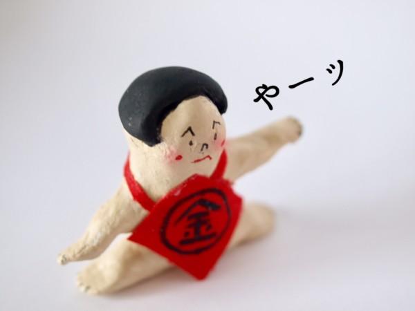 石粉粘土 作品 金太郎