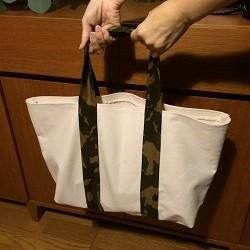 縫わずにトートバッグ