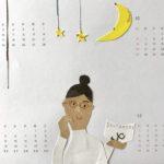 ハンドメイドカレンダー 貼り絵