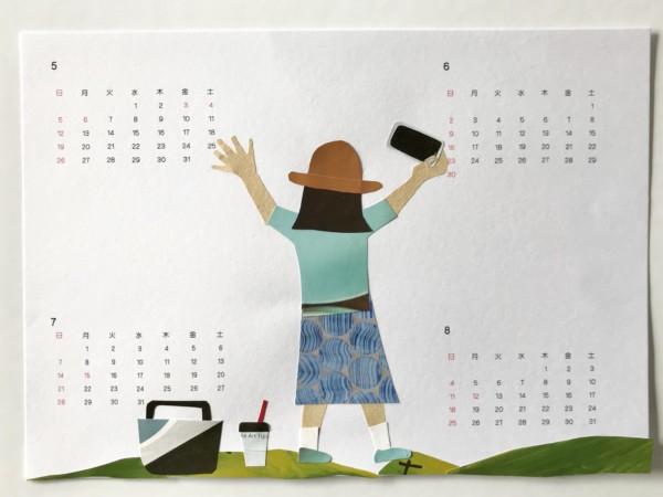 貼り絵カレンダーハンドメイド