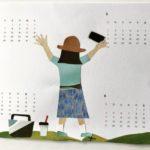 貼り絵カレンダー 自作