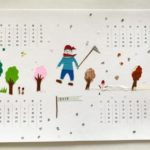 貼り絵 カレンダー
