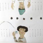 貼り絵カレンダー自作