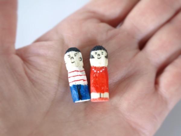 木彫り人形ミニチュア