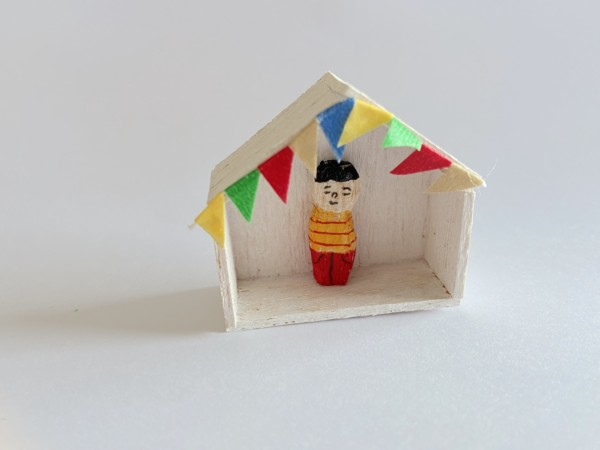 木彫り 人形 ミニチュア