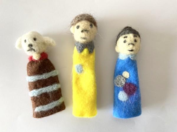羊毛フェルト指人形