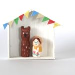 木彫り人形ステイホーム